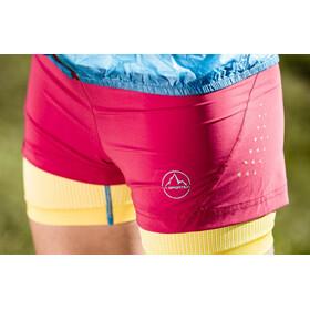La Sportiva Vibe Shorts Women Berry/Yellow